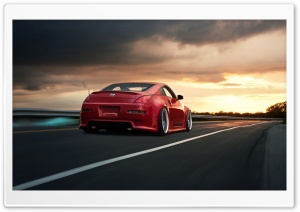 Nissan 350Z Red HD Wide Wallpaper for Widescreen