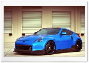 Nissan 370Z Blue HD Wide Wallpaper for Widescreen