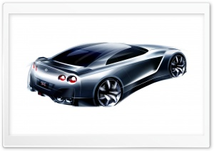 Nissan Foria Sketch HD Wide Wallpaper for Widescreen