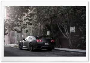 Nissan GT-R Black Ultra HD Wallpaper for 4K UHD Widescreen desktop, tablet & smartphone