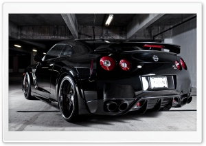 Nissan GTR - Stunning Black HD Wide Wallpaper for 4K UHD Widescreen desktop & smartphone