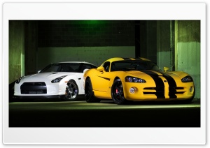 Nissan GTR And Dodge Viper HD Wide Wallpaper for Widescreen