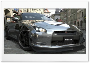 Nissan GTR Chrome HD Wide Wallpaper for Widescreen