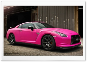 Nissan GTR in Matte Pink HD Wide Wallpaper for Widescreen