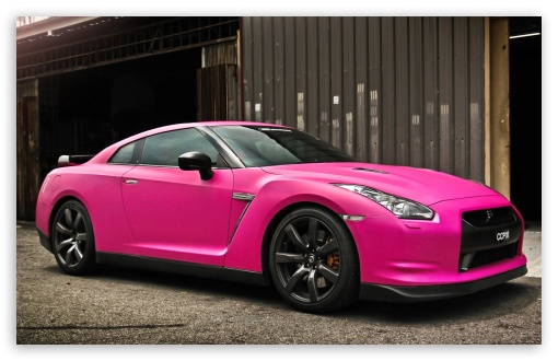 Nissan GTR in Matte Pink HD wallpaper for Wide 16:10 5:3 Widescreen WHXGA WQXGA WUXGA WXGA WGA ; HD 16:9 High Definition WQHD QWXGA 1080p 900p 720p QHD nHD ; Mobile 5:3 16:9 - WGA WQHD QWXGA 1080p 900p 720p QHD nHD ;