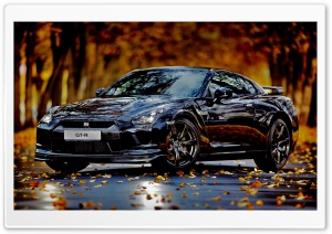 Nissan Skyline GTR Autumn HD Wide Wallpaper for Widescreen