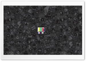 No Signal TV Vector Art HD Wide Wallpaper for Widescreen