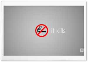 No Smoking, It Kills HD Wide Wallpaper for 4K UHD Widescreen desktop & smartphone