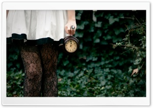 No Time to Say Hello, Goodbye - Alice in Wonderland White Rabbit HD Wide Wallpaper for Widescreen