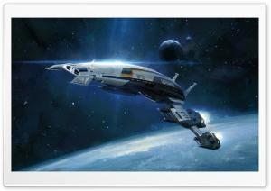 Normandy SR-2 starship, Mass Effect HD Wide Wallpaper for 4K UHD Widescreen desktop & smartphone