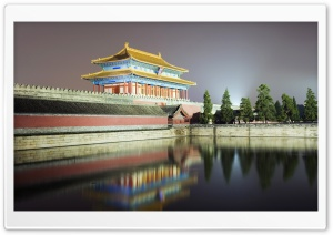 North Gate Of The Forbidden City, Beijing, China HD Wide Wallpaper for Widescreen