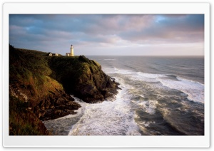 North Head Lighthouse Cape Disappointment State Park Washington HD Wide Wallpaper for Widescreen