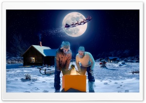 North Pole Magic HD Wide Wallpaper for Widescreen