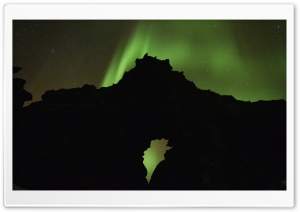 Northern Lights, Iceland HD Wide Wallpaper for Widescreen