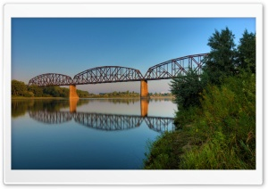 Northern Pacific Railroad Bridge at Bismarck, North Dakota HD Wide Wallpaper for 4K UHD Widescreen desktop & smartphone