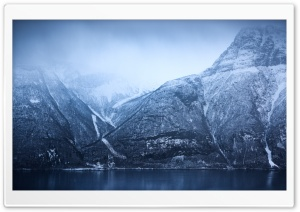 Norway Fjords Winter Landscape HD Wide Wallpaper for 4K UHD Widescreen desktop & smartphone