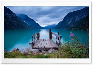 Norway, Sea Lake Water Clouds Sky HD Wide Wallpaper for 4K UHD Widescreen desktop & smartphone