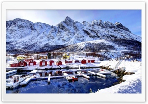 Norway Village, Winter HD Wide Wallpaper for 4K UHD Widescreen desktop & smartphone
