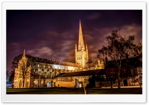 Norwich Cathedral HD Wide Wallpaper for 4K UHD Widescreen desktop & smartphone
