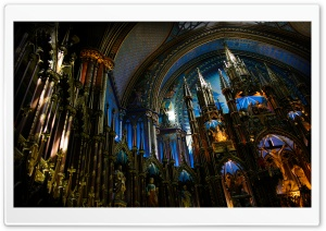 Notre Dame Basilica (Montreal) HD Wide Wallpaper for 4K UHD Widescreen desktop & smartphone