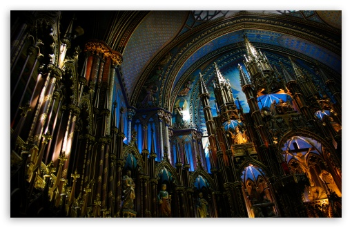 Notre Dame Basilica (Montreal) HD wallpaper for Standard 4:3 5:4 ...