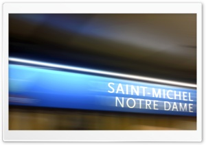 Notre Dame station. Paris underground. HD Wide Wallpaper for Widescreen