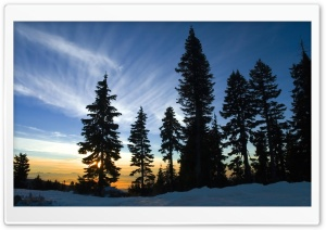 November Sky, Mount Seymour, British Columbia HD Wide Wallpaper for Widescreen