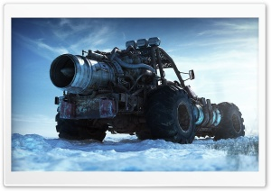 Nuclear Truck Fantasy HD Wide Wallpaper for Widescreen