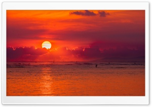 Oahu Hawaii Sunset HD Wide Wallpaper for Widescreen