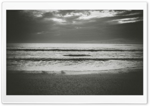 Ocean Black and White Grain HD Wide Wallpaper for Widescreen