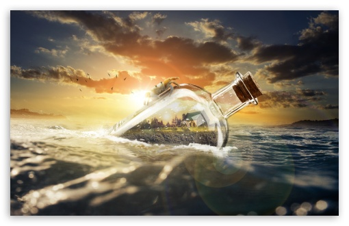 Ocean Drift Bottle UltraHD Wallpaper for Wide 16:10 5:3 Widescreen WHXGA WQXGA WUXGA WXGA WGA ; UltraWide 21:9 24:10 ; 8K UHD TV 16:9 Ultra High Definition 2160p 1440p 1080p 900p 720p ; UHD 16:9 2160p 1440p 1080p 900p 720p ; Standard 4:3 5:4 3:2 Fullscreen UXGA XGA SVGA QSXGA SXGA DVGA HVGA HQVGA ( Apple PowerBook G4 iPhone 4 3G 3GS iPod Touch ) ; Tablet 1:1 ; iPad 1/2/Mini ; Mobile 4:3 5:3 3:2 16:9 5:4 - UXGA XGA SVGA WGA DVGA HVGA HQVGA ( Apple PowerBook G4 iPhone 4 3G 3GS iPod Touch ) 2160p 1440p 1080p 900p 720p QSXGA SXGA ; Dual 16:10 5:3 16:9 4:3 5:4 3:2 WHXGA WQXGA WUXGA WXGA WGA 2160p 1440p 1080p 900p 720p UXGA XGA SVGA QSXGA SXGA DVGA HVGA HQVGA ( Apple PowerBook G4 iPhone 4 3G 3GS iPod Touch ) ; Triple 4:3 5:4 3:2 UXGA XGA SVGA QSXGA SXGA DVGA HVGA HQVGA ( Apple PowerBook G4 iPhone 4 3G 3GS iPod Touch ) ;