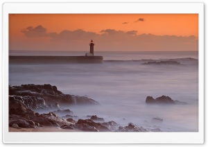 Ocean Lighthouse HD Wide Wallpaper for Widescreen