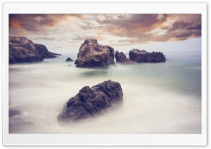 Ocean Rocks Long Exposure HD Wide Wallpaper for 4K UHD Widescreen desktop & smartphone