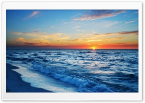 Ocean Sunset HD Wide Wallpaper for Widescreen