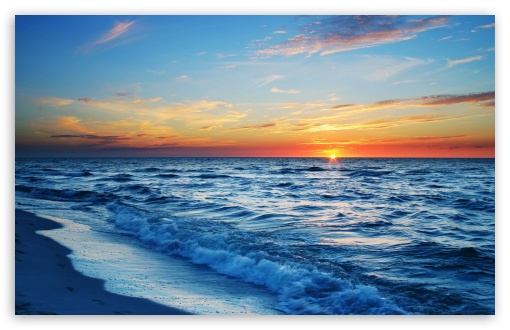 Ocean Sunset Ultra HD Desktop