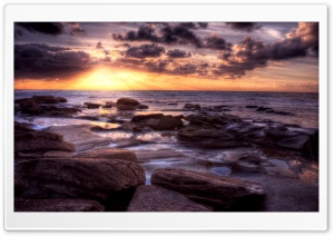 Ocean Sunset, HDR HD Wide Wallpaper for Widescreen