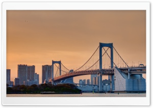 Odaiba Rainbow Bridge HD Wide Wallpaper for Widescreen