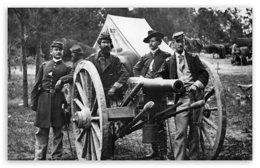 Officers And Cannon   Vintage Photography HD wallpaper for Wide 16:10 5:3 Widescreen WHXGA WQXGA WUXGA WXGA WGA ; HD 16:9 High Definition WQHD QWXGA 1080p 900p 720p QHD nHD ; Standard 4:3 5:4 3:2 Fullscreen UXGA XGA SVGA QSXGA SXGA DVGA HVGA HQVGA devices ( Apple PowerBook G4 iPhone 4 3G 3GS iPod Touch ) ; iPad 1/2/Mini ; Mobile 4:3 5:3 3:2 16:9 5:4 - UXGA XGA SVGA WGA DVGA HVGA HQVGA devices ( Apple PowerBook G4 iPhone 4 3G 3GS iPod Touch ) WQHD QWXGA 1080p 900p 720p QHD nHD QSXGA SXGA ;