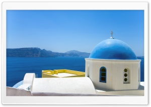 Oia, Greece HD Wide Wallpaper for Widescreen