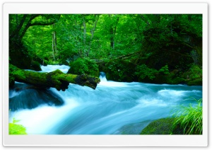 Oirase Mountain stream, Japan HD Wide Wallpaper for Widescreen