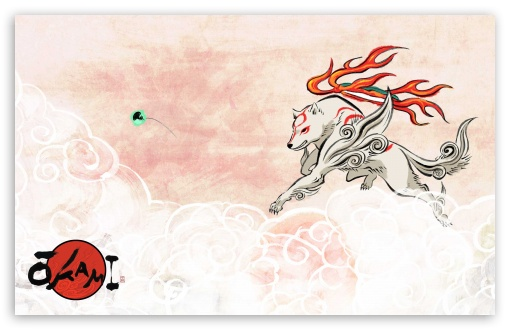 Okami HD wallpaper for Wide 16:10 5:3 Widescreen WHXGA WQXGA WUXGA WXGA WGA ; HD 16:9 High Definition WQHD QWXGA 1080p 900p 720p QHD nHD ; Standard 3:2 Fullscreen DVGA HVGA HQVGA devices ( Apple PowerBook G4 iPhone 4 3G 3GS iPod Touch ) ; Mobile 5:3 3:2 16:9 - WGA DVGA HVGA HQVGA devices ( Apple PowerBook G4 iPhone 4 3G 3GS iPod Touch ) WQHD QWXGA 1080p 900p 720p QHD nHD ;