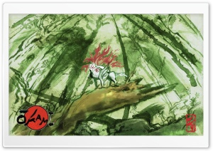 Okami Game HD Wide Wallpaper for Widescreen