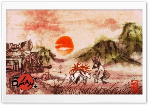Okami Video Game HD Wide Wallpaper for Widescreen
