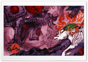 Okami Video Game Art HD Wide Wallpaper for Widescreen