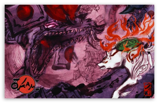 Okami Video Game Art HD wallpaper for Wide 16:10 5:3 Widescreen WHXGA WQXGA WUXGA WXGA WGA ; HD 16:9 High Definition WQHD QWXGA 1080p 900p 720p QHD nHD ; Standard 3:2 Fullscreen DVGA HVGA HQVGA devices ( Apple PowerBook G4 iPhone 4 3G 3GS iPod Touch ) ; Mobile 5:3 3:2 16:9 - WGA DVGA HVGA HQVGA devices ( Apple PowerBook G4 iPhone 4 3G 3GS iPod Touch ) WQHD QWXGA 1080p 900p 720p QHD nHD ;