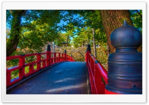 Okazaki Castle Bridge HD Wide Wallpaper for 4K UHD Widescreen desktop & smartphone