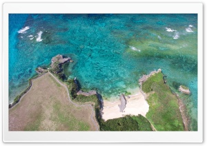 Okinawa Island, Japan, Aerial View HD Wide Wallpaper for Widescreen