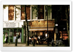 Ola Cafe Bistro HD Wide Wallpaper for Widescreen