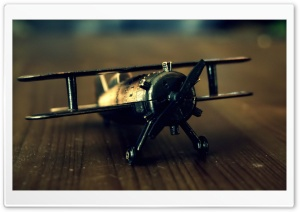 Old Airplane Toy HD Wide Wallpaper for 4K UHD Widescreen desktop & smartphone