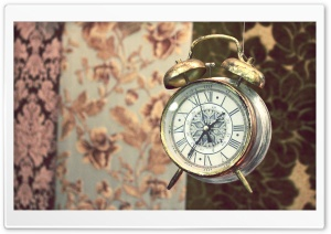 Old Alarm Clock HD Wide Wallpaper for Widescreen
